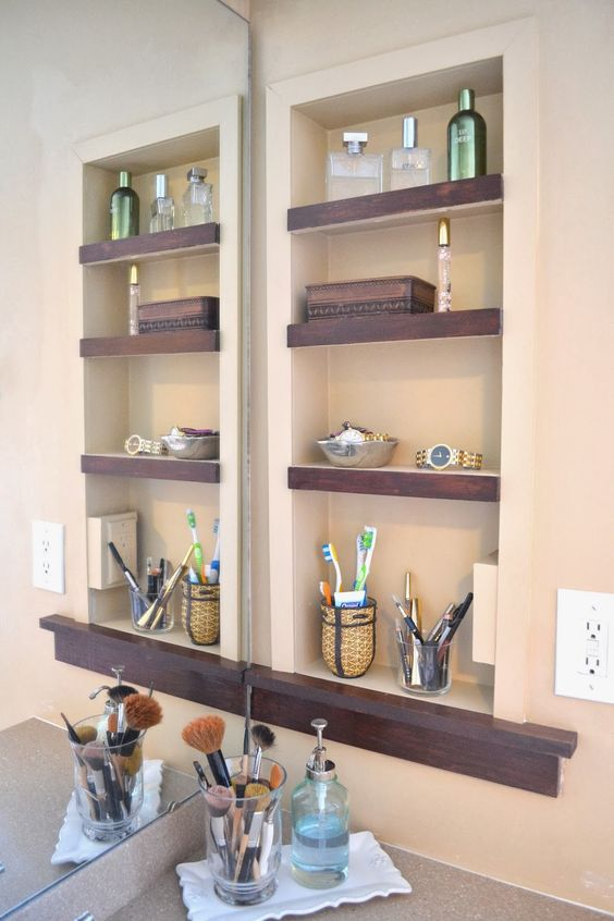 niche shelves are the best ones for small spaces