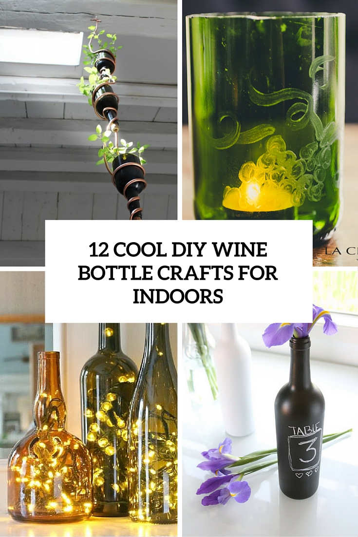 cool diy wine bottle crafts for outdoors cover