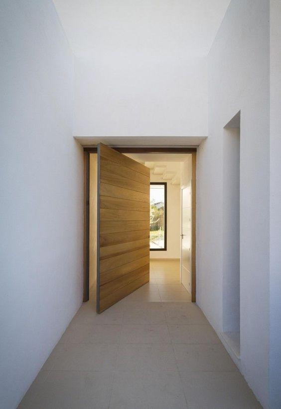 large wooden planks front door