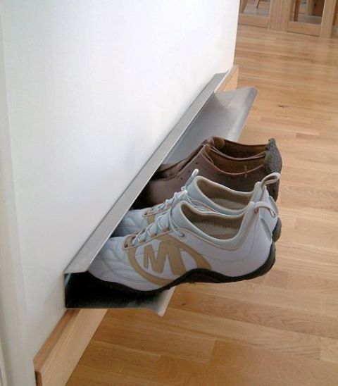 metal wall rack for shoes and sneakers