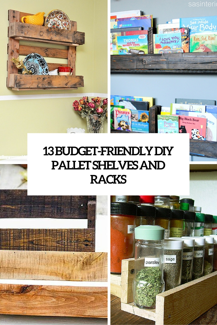 13 Budget-Friendly DIY Pallet Shelves And Racks