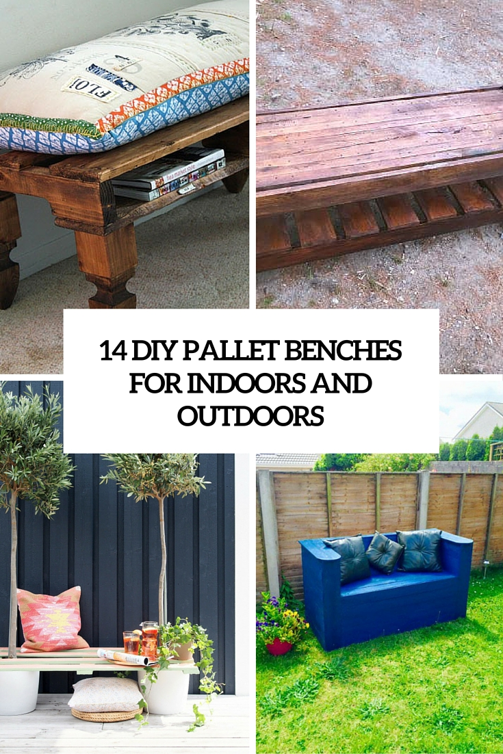 14 DIY Pallet Benches For Indoors And Outdoors