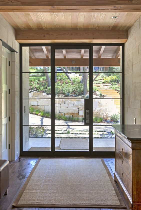 28 beautiful glass front doors for your entry shelterness for Glass door in front of exterior door