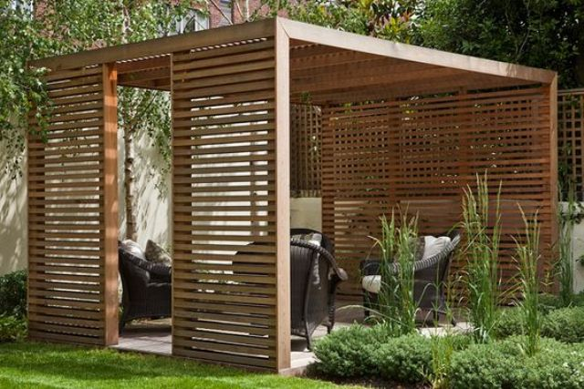 23 modern gazebo and pergola design ideas you 39 ll love. Black Bedroom Furniture Sets. Home Design Ideas