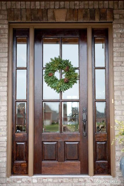 27 chic dark front doors to try for your entry shelterness for Hardwood front doors