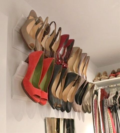 heel wall holders is a great way to save some floor space