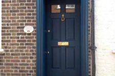 16 dark blue front door