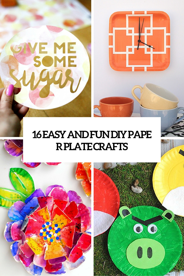 16 easy and fun diy paper plate crafts cover  sc 1 st  Shelterness & 16 Easy And Fun DIY Paper Plate Crafts - Shelterness
