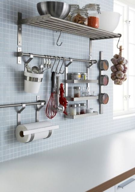 Ikea Metal Kitchen Wall Shelves