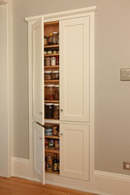 29 best in wall storage ideas to save your space shelterness Kitchen storage cabinets for small spaces