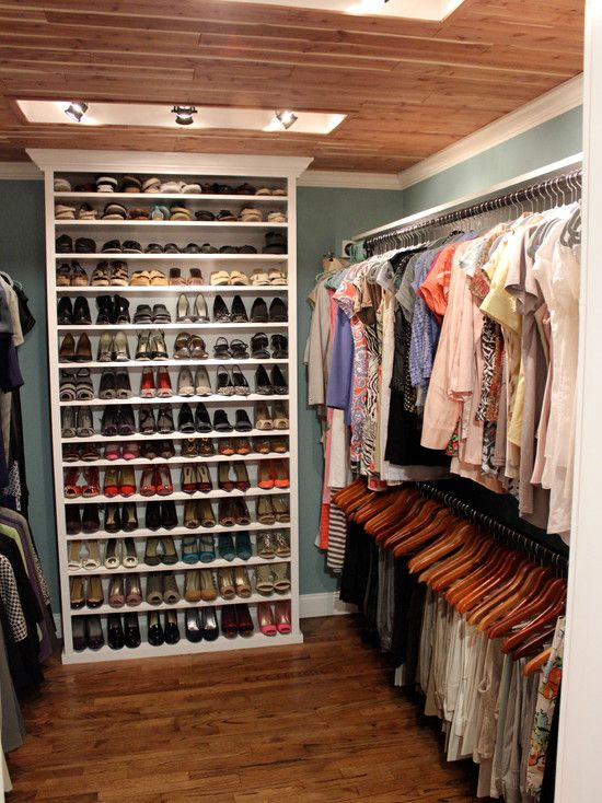 mix shoe wall shelf and simple hangers and you're good to go