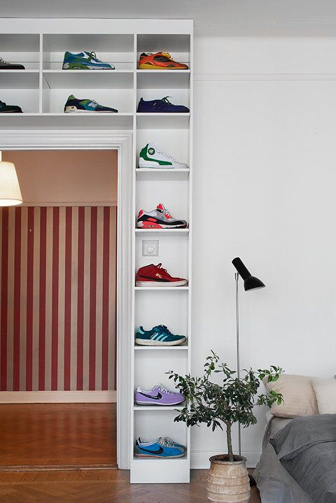 sneakers storage over the door