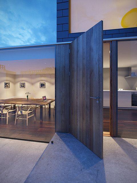 reclaimed wood large front door