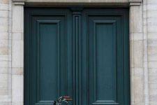 20 dark teal front doors