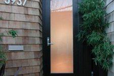 20 modern black wood and glass front door