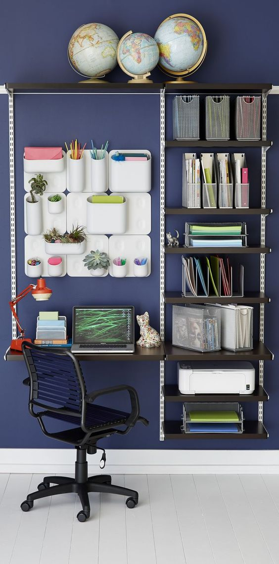 Creative Home Office Wall Storage Ideas