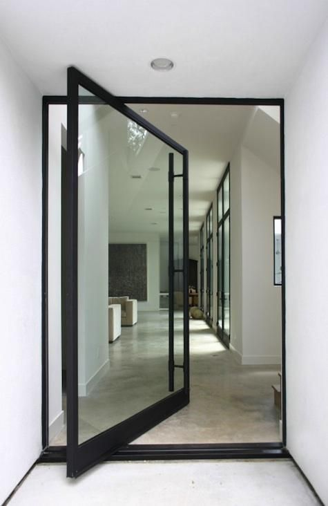 pivot glass front door