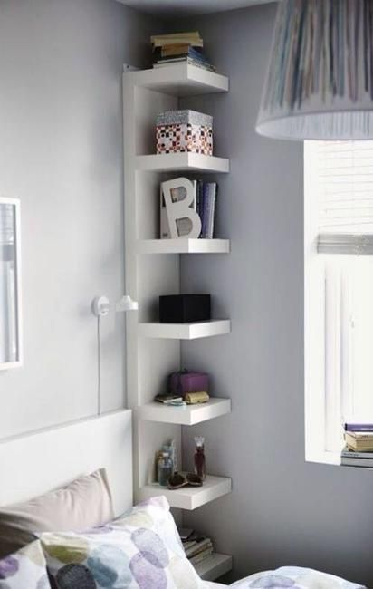 IKEA shelf could occupy even the tightest corners