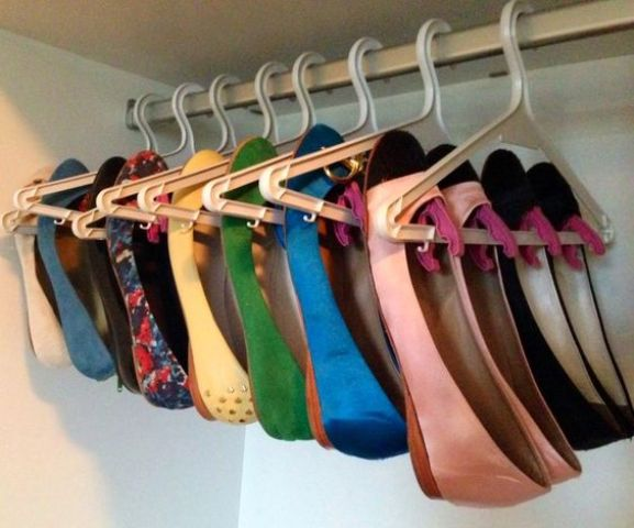 hangers and pegs for storing your flats
