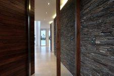 22 oversized textural wooden door