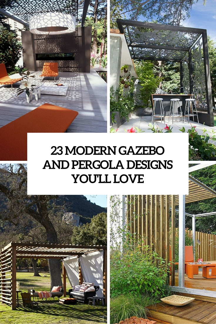 23 modern gazebo and pergola design ideas you 39 ll love shelterness. Black Bedroom Furniture Sets. Home Design Ideas