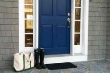 23 navy door with white sidelights
