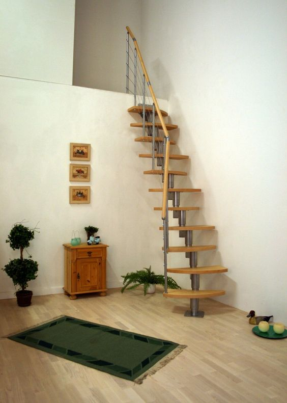 Exceptionnel Space Saving Loft Stairs Of Metal And Wood