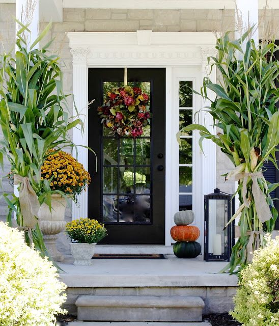Fall Front Entrance: 27 Cool Front Door Designs With Sidelights