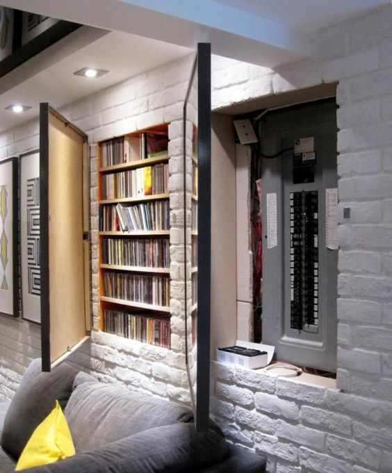 29 best in wall storage ideas to save your space shelterness In wall dvd storage