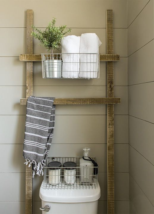 Epic ladder as a holder for towels