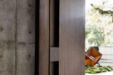 25 oversized dark wooden front door