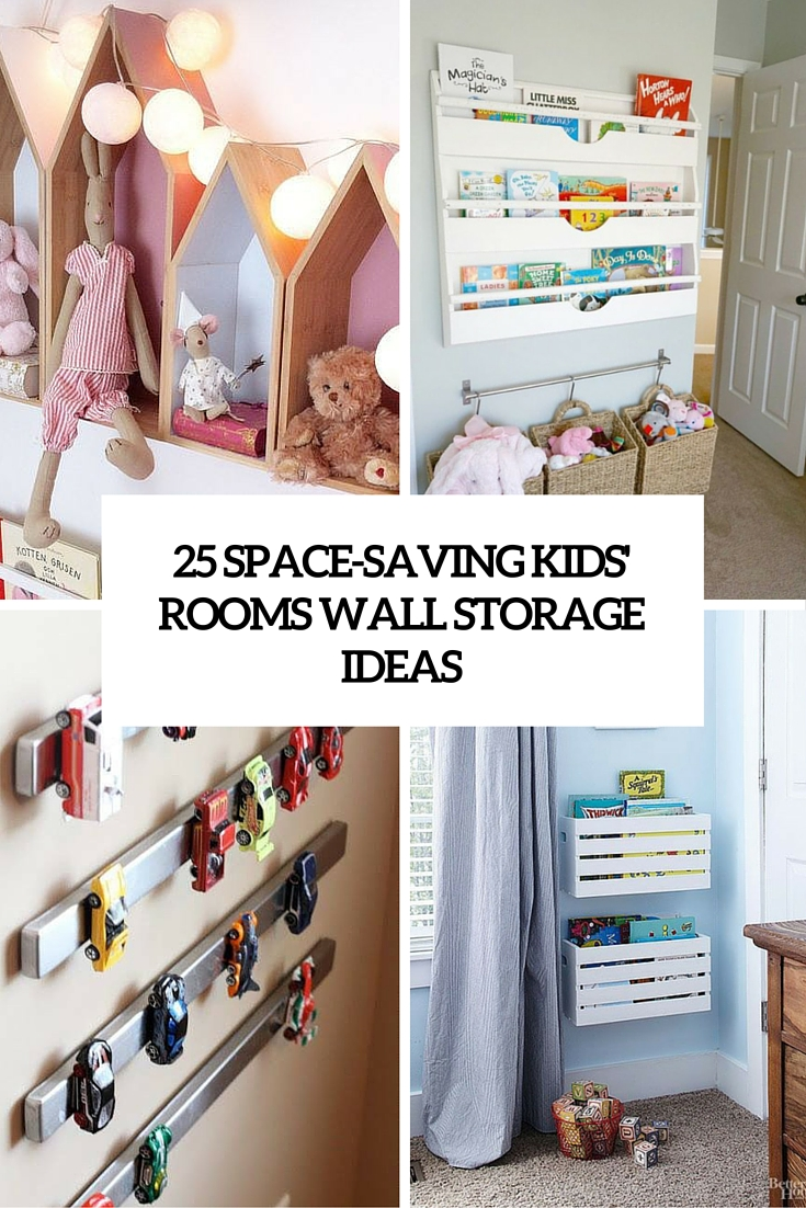 E Saving Kids Room Wall Storage Ideas Cover