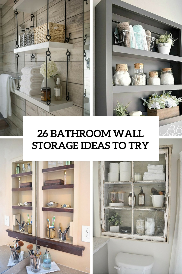 26 simple bathroom wall storage ideas shelterness for Bathroom wall ideas