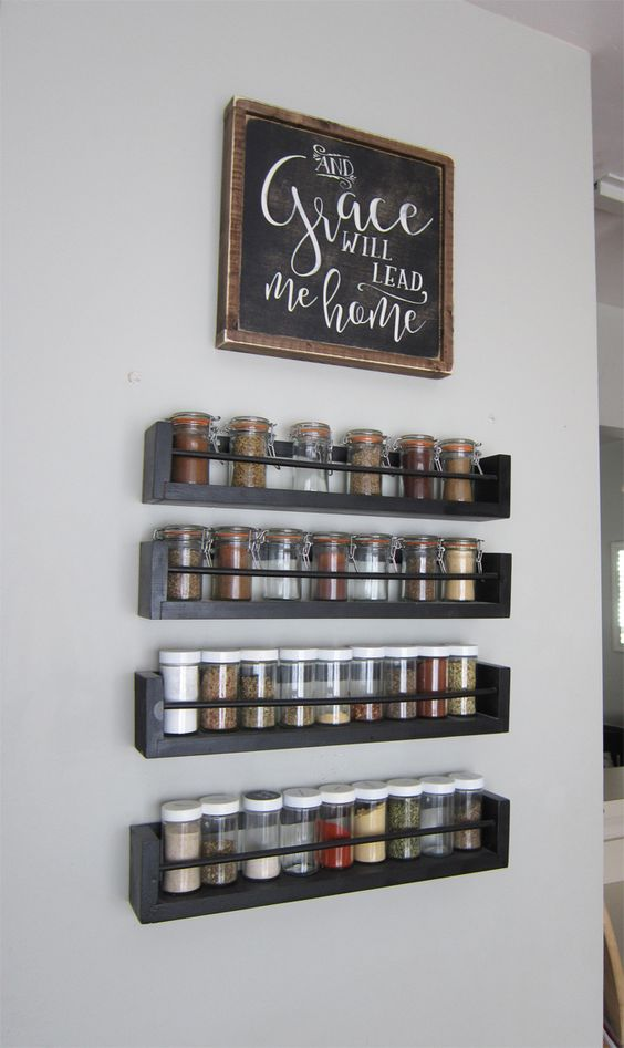 wall spice racks