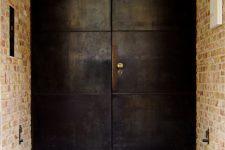 27 blackened metal front doors