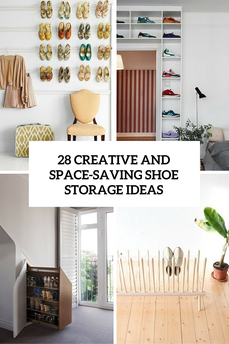 creative and space saving shoe storage ideas cover