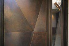 28 modern geometric dark steel front door