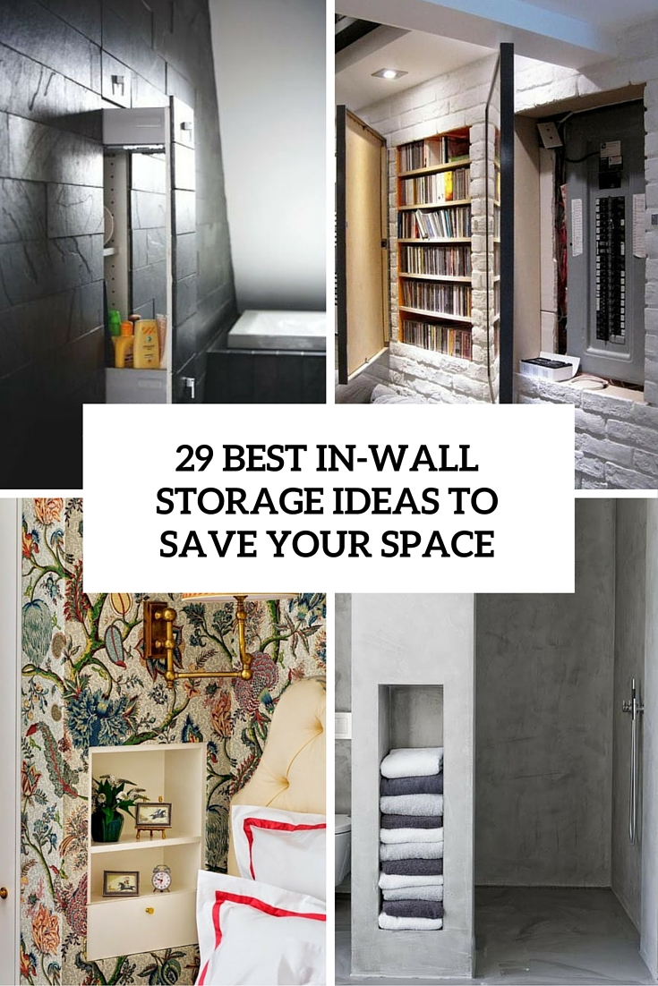 In Wall Storage Ideas 29 Best Inwall Storage Ideas To Save Your Space  Shelterness