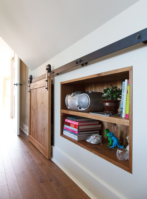 wall storage cabinet with a sliding door