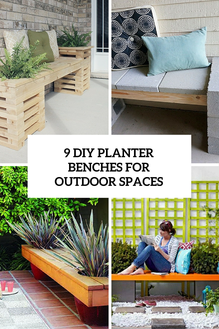 9 DIY Planter Benches For Your Outdoor Spaces