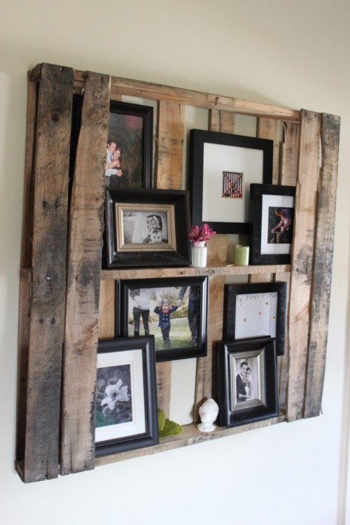 DIY Pallet Floating Shelf Via Shelterness