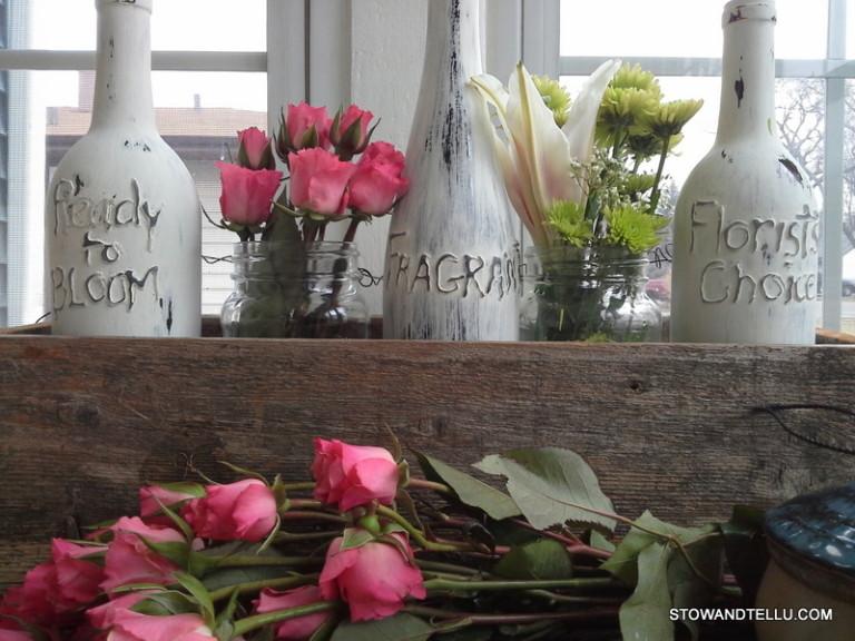 DIY chippy painted wine bottles (via stowandtellu.com)