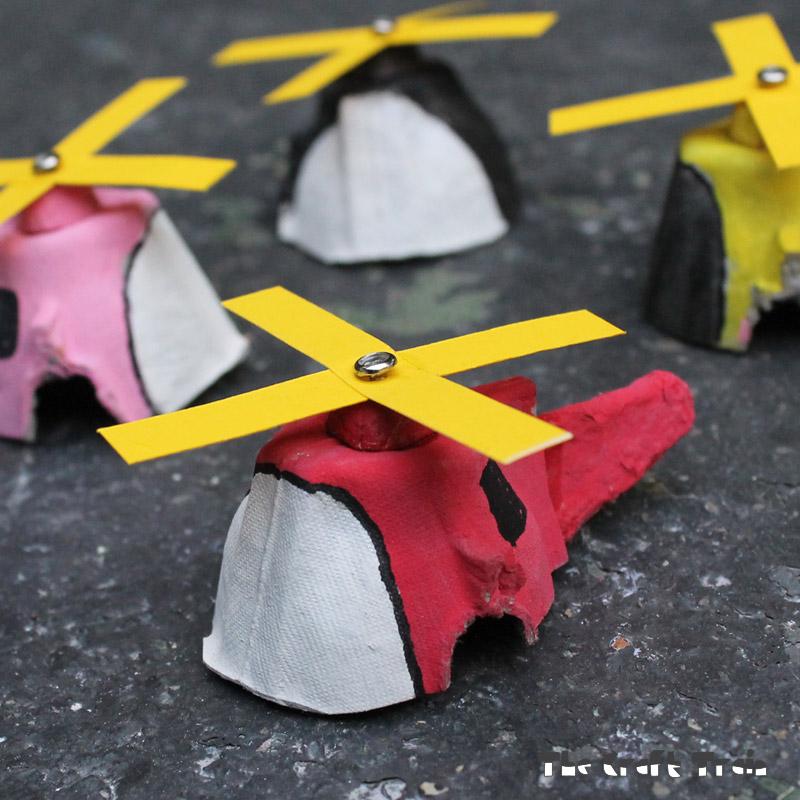 DIY egg carton mini copters (via www.thecrafttrain.com)