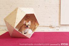 DIY geometric dog house