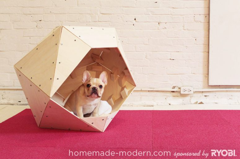 DIY geometric dog house (via homemade-modern)