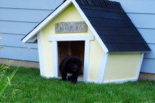 DIY crooked dog house