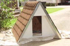 insulated A-frame dog house