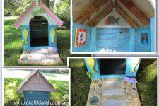 DIY seaside-inspired dog house
