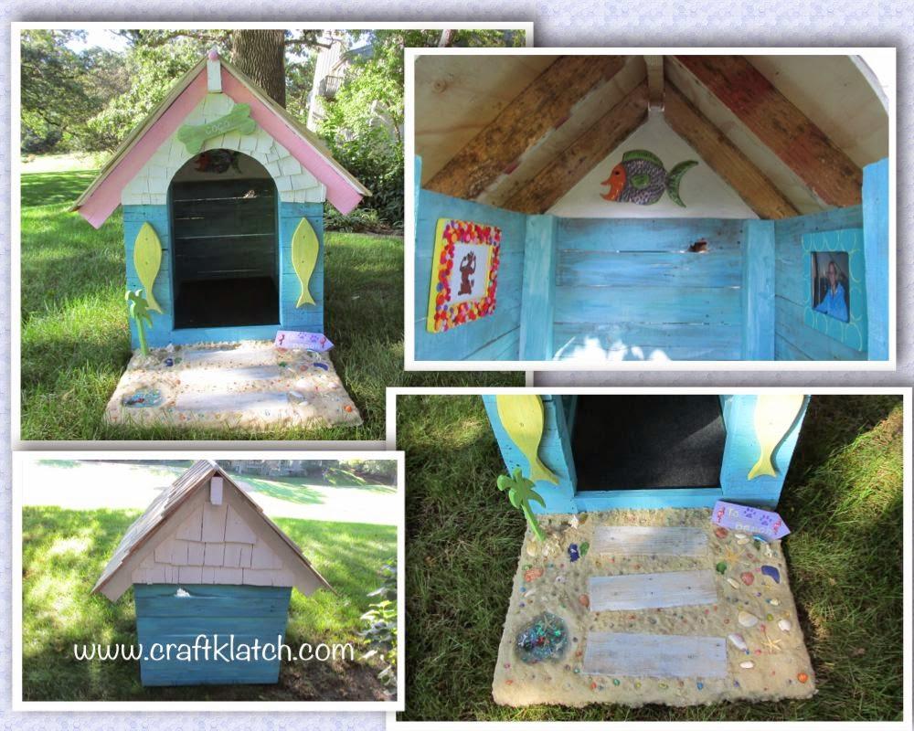 DIY seaside inspired dog house