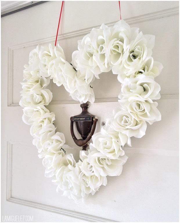 DIY floral heart wreath (via lamiguelez.com)
